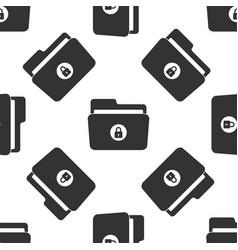 locked folder icon seamless pattern vector image
