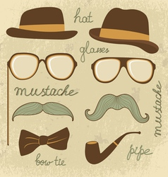 Mustache party vector image