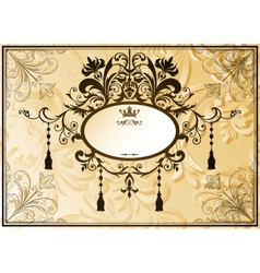 Vintage background with ornate frame vector image vector image