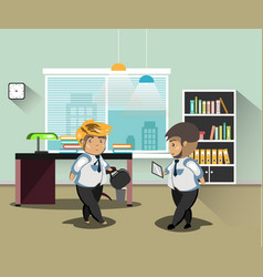 businessmans in office vector image