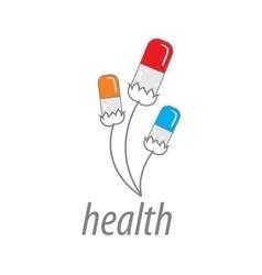 logo health vector image vector image