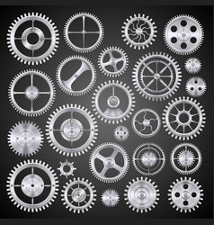 pinions mechanisms vector image