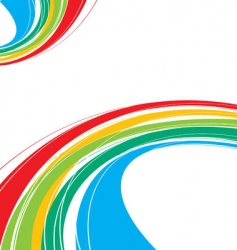 rainbow wave vector image