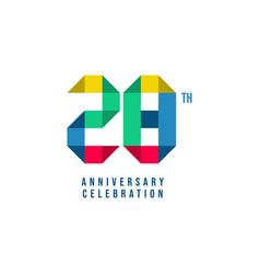 28 th anniversary celebration template design vector