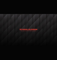 3d parallelogram conceptual abstract darkness vector image