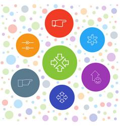 7 cursor icons vector