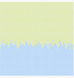 abstract pixel green blue color of square vector image