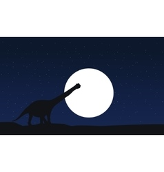 argentinosaurus scnery silhouettes at vector image vector image