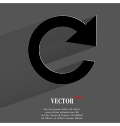 arrow Update Flat modern web button with long vector image