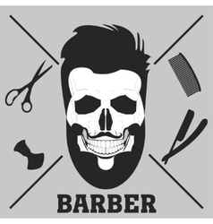 beard barber shop vector image