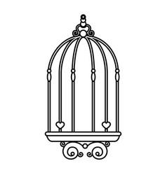 Bird cage vintage vector