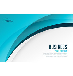 blue business wave background design vector image