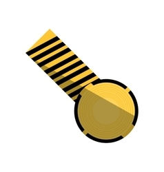 cartoon caution striped tape warning shadow vector image