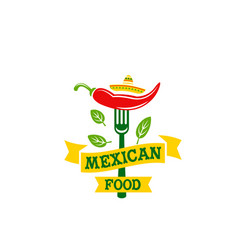 chili pepper jalapeno mexican food icon vector image