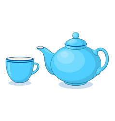 China teapot and cup vector