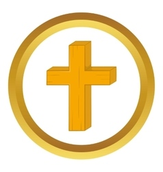 Christian cross icon vector
