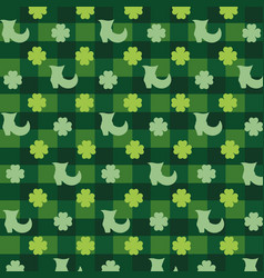 Clovers plants with boot and textures background vector