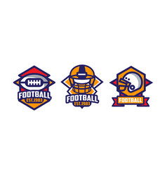 collection football labels set sport game vector image