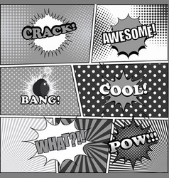 comic book funny background vector image