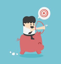 concept cartoon businessman to reach his goal vector image