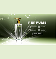 cosmetic glass ads luxury fashion vector image
