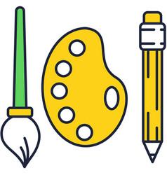 Creative tools design icon on white vector