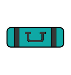 cute blue bag of camping vector image