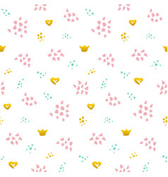 cute grunge seamless pattern vector image