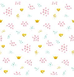 cute grunge seamless pattern vector image