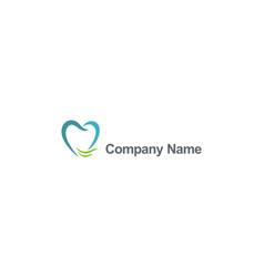 Dentist company name logo vector