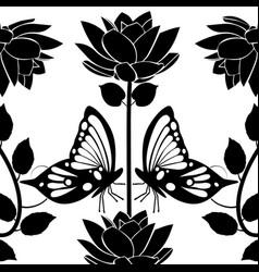 design element flourishes butterflies vintage vector image