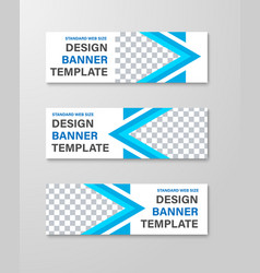 design horizontal white web banners with place vector image