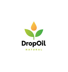 drop oil leaf logo icon vector image