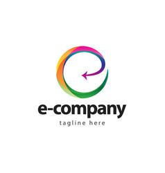 E company logo template design vector