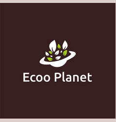 Ecoo planet logo design vector