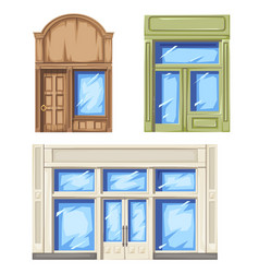 facade of store and shop vector image
