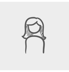 Female sketch icon vector