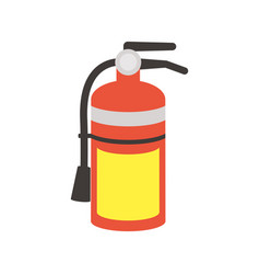 Fire extinguisher flat style icon vector
