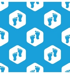 Footprint hexagon pattern vector image