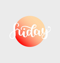 friday handwriting font by calligraphy vector image