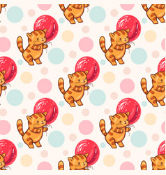 funny cartoon kittens vector image