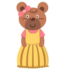 girl bear vector image