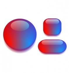 glass button set vector image