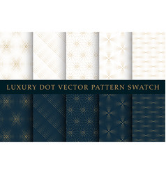 golden luxury dot pattern swatch set vector image