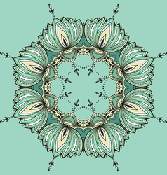 Hand-drawn lotus in east style arranged in a vector