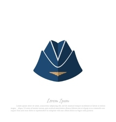 Headgear stewardess civil aircraft vector
