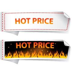 Hot price sticker label vector