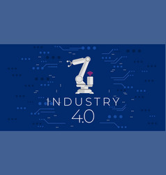 industry 40 concept fourth industrial revolution vector image