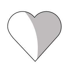 Isolated heart design vector