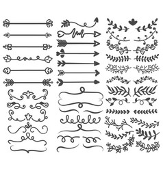 large collection black and white ornaments vector image